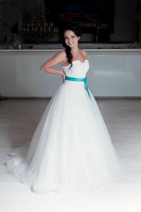 Свадебные Платья С Берюзовой Лентой